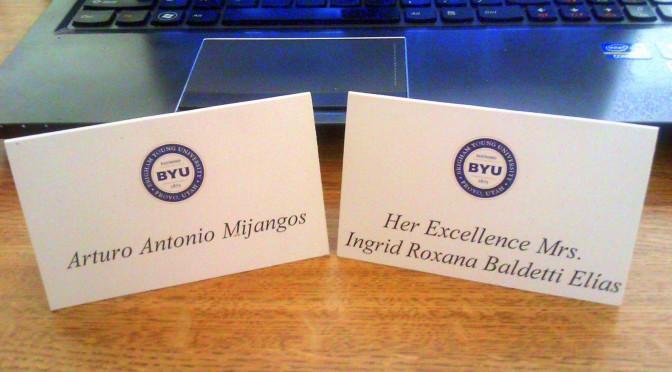 Vicepresidenta Roxana Baldetti en BYU