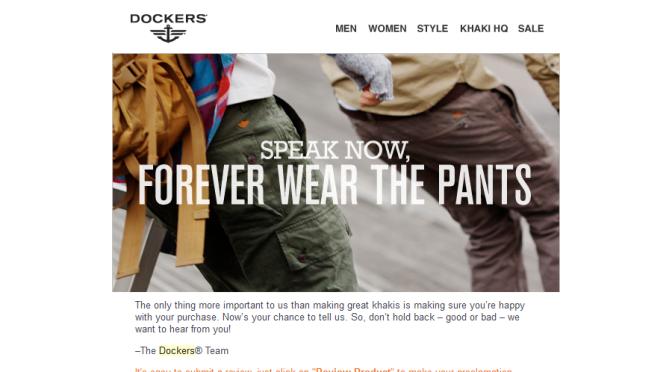 Thanks for listening Dockers.com